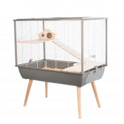 Cage NEO SILTA. tamanho 77,5 x 47 x altura 87,5 cm. cor cinza. para pequenos roedores. ZO-205622GRI Cage