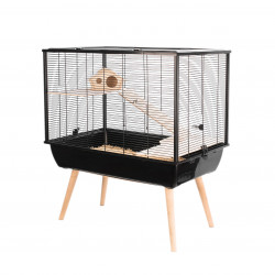 zolux ZO-205622NOI Cage NEO SILTA. size 77.5 x 47 x height 87.5 cm with feet. color black. for small rodents. Cage