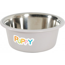 zolux Stainless steel bowl PUPPY. ø 16.5 cm . color Taupe Bowl, bowl, bowl