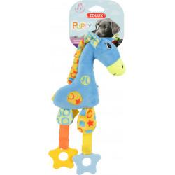 zolux Plush toy PUPPY Blue Giraffe . 30 cm. for puppies. Peluche pour chien