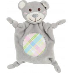 zolux Plush toy PUPPY XS grey cuddly toy. 20 cm. for puppies. Peluche pour chien