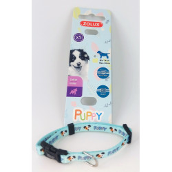 zolux ZO-466735BLE Necklace PUPPY MASCOTTE. 8 mm .16 to 25 cm. blue color. for puppies Puppy