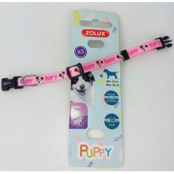 zolux Halskette PUPPY MASCOTTE. 8 mm .16 bis 25 cm. rosa Farbe. für Welpen ZO-466735ROS Welpe