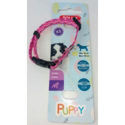 zolux Halskette PUPPY PIXIE. 8 mm .16 bis 25 cm. rosa Farbe. für Welpen ZO-466741ROS Welpe
