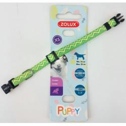 zolux Halskette PUPPY PIXIE. 8 mm .16 bis 25 cm. grüne Farbe. für Welpen ZO-466741VER Welpe