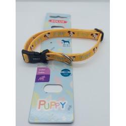 Colar PUPPY MASCOTTE. 13 mm. 25 a 39 cm. de cor amarela. para cachorros ZO-466738JAU Cachorrinho