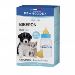 francodex FR-170401 Baby Bottle 120 ml For Puppies and Kittens Puppy