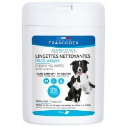 francodex Mehrzweck-Reinigungstücher 50 Stück für Hunde und Katzen FR-172204 Welpe