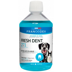 Francodex Fresh Dent 2 in 1 For Dogs and Cats 500ml Soins des dents pour chiens