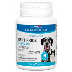 FR-170197 francodex Pasta de dientes en polvo 70 g para perros y gatos Cuidados e higiene