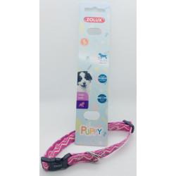 zolux Halskette PUPPY PIXIE. 13 mm . 25 bis 39 cm. rosa Farbe. für Welpen ZO-466744ROS Welpe