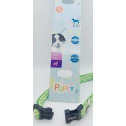zolux Halskette PUPPY PIXIE. 13 mm .25 bis 39 cm. grüne Farbe. für Welpen ZO-466744VER Welpe