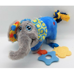 zolux ZO-480080BLE Plush toy PUPPY Elephant blue . 25 cm. for puppies. Puppy