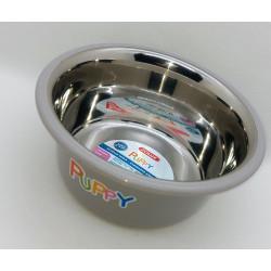 zolux Edelstahlschüssel PUPPY. ø 16,5 cm . Farbe Taupe ZO-475542TAU Schüssel, Schüssel, Schüssel, Schüssel