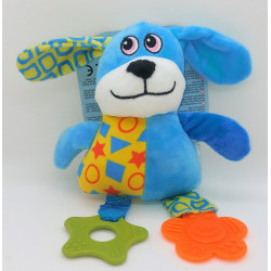 zolux ZO-480079BLE Plush toy PUPPY Blue Dog . 23 cm. for puppies. Puppy