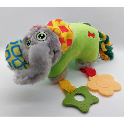 zolux ZO-480080VER Plush toy PUPPY Green Elephant . 25 cm. for puppies. Puppy
