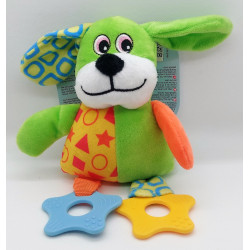 zolux ZO-480079VER Plush toy PUPPY Green Dog . 23 cm. for puppies. Puppy