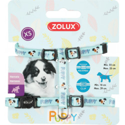 zolux ZO-466737BLE Harness XS PUPPY MASCOTTE. 8 mm. 18 to 29 cm. blue color. for puppies Puppy