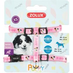 zolux Gurtzeug XS PUPPY MASCOTTE. 8 mm. 18 bis 29 cm. rosa Farbe. für Welpen ZO-466737ROS Welpe