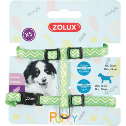 zolux ZO-466743VER Harness XS PUPPY PIXIE. 8 mm. 18 to 29 cm. green color. for puppies Puppy
