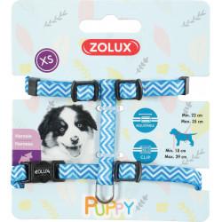 zolux Gurtzeug XS PUPPY PIXIE. 8 mm. 18 bis 29 cm. blaue Farbe. für Welpen ZO-466743BLE Welpe