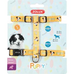 zolux ZO-466740JAU Harness S PUPPY MASCOTTE. 13 mm. 27 to 42 cm. yellow color. for puppies Puppy