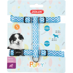 zolux ZO-466746BLE Harness S PUPPY PIXIE. 13 mm. 27 to 42 cm. blue color. for puppies Puppy
