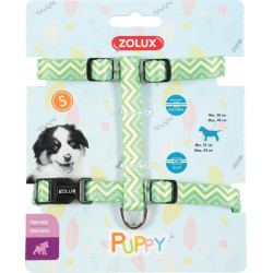 zolux ZO-466746VER Harness S PUPPY PIXIE. 13 mm. 27 to 42 cm. green color. for puppies Puppy