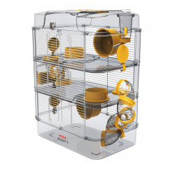 zolux Cage Trio rody3. couleur banane. taille 41 x 27 x 53 cm H. pour rongeur Cage