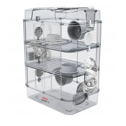 zolux ZO-206022 Cage Trio rody3. white color. size 41 x 27 x 53 cm H. for rodent Cage
