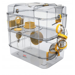 zolux Cage Duo rody3. couleur Banane. taille 41 x 27 x 40.5 cm H. pour rongeur Cage