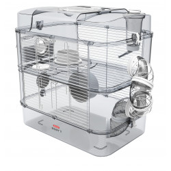 zolux Cage Duo rody3. couleur Blanche. taille 41 x 27 x 40.5 cm H. pour rongeur Cage