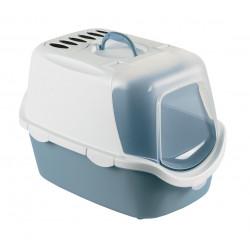 zolux Cathy Leicht zu reinigen. 40 x 40 x 56 cm. stahlblau ZO-590002BAC Toilettenhaus