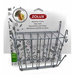 zolux Heuraufe aus grauem Metall. 20 x 6 x 18 cm. für Nagetiere. ZO-206871 Kleintiere und Nagetiere