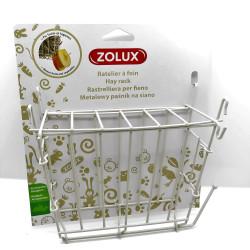 zolux Râtelier à foin en métal beige. 20x 6 x 18 cm. pour rongeur. Ratelier a nourriture