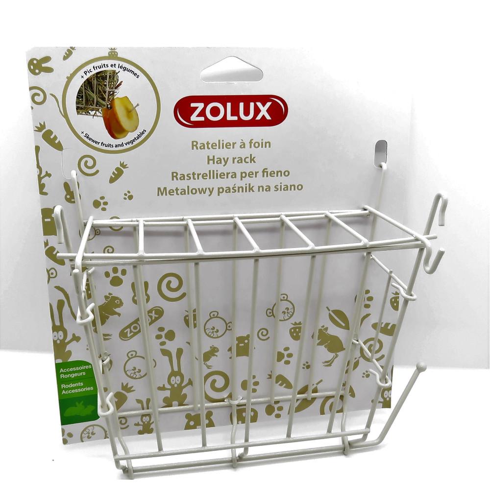 zolux ZO-206870 Beige metal hay rack. 20 x 6 x 18 cm. for rodents. Rongeurs