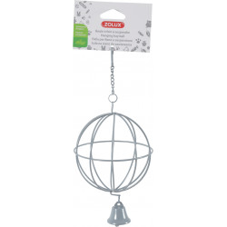 zolux ZO-206869 Hay ball ø 10 cm. to hang. grey. for rodents. Rongeurs