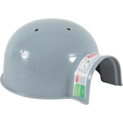 zolux Igluhaus ø 15 cm x H 10 cm. aus grauem Kunststoff. für kleine Nagetiere. ZO-280081 Betten, Hängematten, Nester
