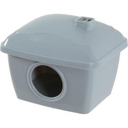 zolux Hamsterhaus. 14 x 11 x Höhe 10 cm, Farbe grau. ZO-206513 Kleintiere und Nagetiere