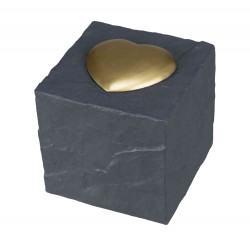 Trixie TR-38415 Commemorative stone cube with heart. cube 11 x 11 x 11 cm. Dog