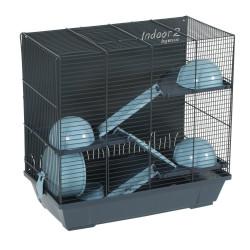 zolux Cage Indoor 2. triplex 50 ciel pour hamster. 51 x 28 x hauteur 48 cm. Cage