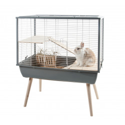 zolux ZO-205621GRI Grey Neo MUKI cage. 77.5 x 47.5 x height 87.5 cm. for large rodents. Rongeurs