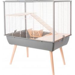 zolux Cage Néo MUKI grise. 77.5 x 47.5 x hauteur 87.5 cm. pour grand rongeur. Cage
