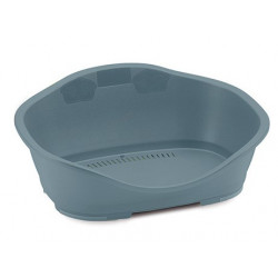 Stefanplast Plastic basket Sleepper3 - 80.5 x 55 cm light blue. for dog. Panier plastique chien