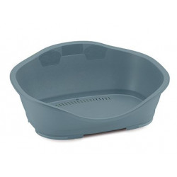Stefanplast Plastic Sleepper basket 2. 68.5 x 49 cm Light blue. for dog. Panier plastique chien