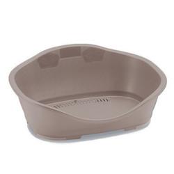 Stefanplast Plastic Sleepper basket 2. 68.5 x 49 cm light pink. for dog. Panier plastique chien
