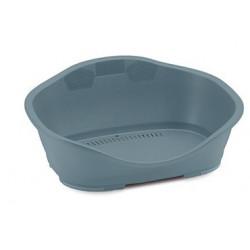 Stefanplast Plastic Sleepper basket 1. 56 x 42 cm light blue. for dog. Panier plastique chien