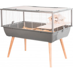 zolux Grey Neo NIGHA cage. 78 x 48 x height 65 cm. for small rodents. Cage