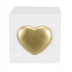 Trixie TR-38414 Commemorative stone cube with heart. 11 x 11x 11cm Dog