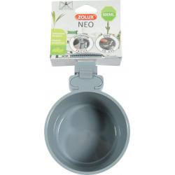 zolux ZO-206697 Neo 500 ml grey plastic rodent feeder. for rodents. Rongeurs